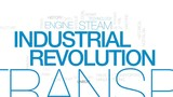 Industrial revolution animated word cloud, text design animation. Kinetic typography. - 175829046