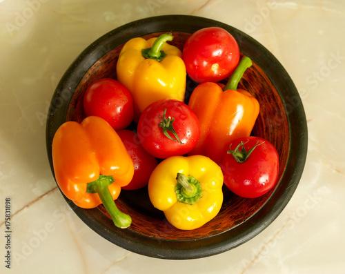 Fresh vegetables on kitchen's table