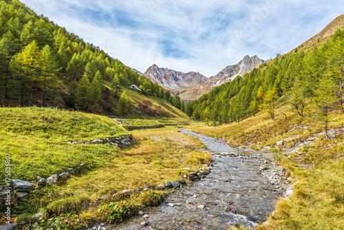 Wildbach am Grossen St. Bernhard Italien