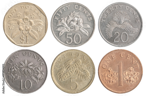 set of Singapore coins Poster