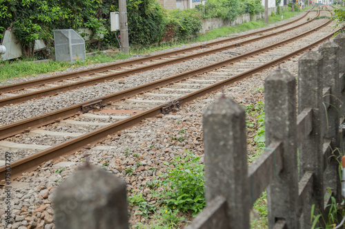 Staande foto Spoorlijn 線路沿い