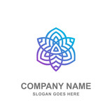 Mandala Yoga Spa Boutique Saloon Beauty Logo Vector Icon - 175841892