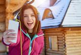 Sport woman winter portrait. Shallow dof. - 175846005