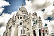 The Sacre-Coeur in Paris, France - HDR view.