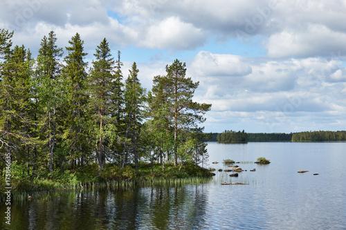 Fotobehang Lente Beautiful Finnish landscape