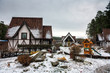 Winter in a traditional German village