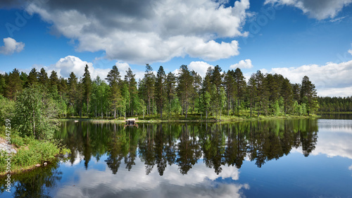 Fotobehang Zomer Beautiful Finnish landscape