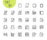 Set of icons for office workflow. Modern outline web icons collection for web and app design and development. Premium quality vector illustration of thin line web symbols. - 175850212