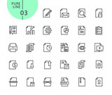 Set of icons for business office. Modern outline web icons collection for web and app design and development. Premium quality vector illustration of thin line web symbols. - 175850225