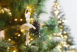Christmas tree holiday background, closeup - 175852058