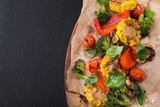 Grilled Vegetables on craft paper - 175852401