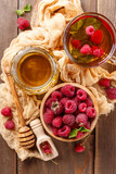 Tea with mint and raspberry - 175858696