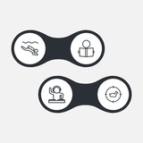 Set Of 4 Entertainment Outline Icons Set.Collection Of Dj, Reading, Diving And Other Elements. - 175859222