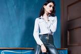 Beautiful business woman lady style perfect body shape - 175859489