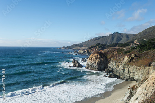 Ocean view from Highway 1 California Poster