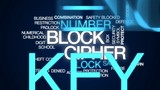 Block cipher animated word cloud, text design animation. - 175861653