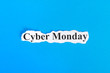 Cyber Monday text on paper. Word Cyber Monday on torn paper. Concept Image