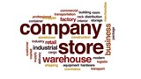 Company store animated word cloud, text design animation. - 175863068