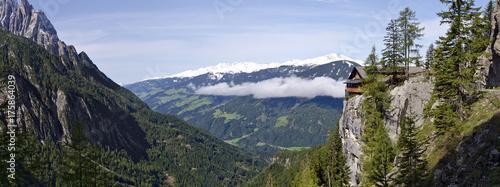 Foto op Aluminium Panoramafoto s Peaks of the Schober group