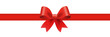 Gift decoration red ribbon - stock vector