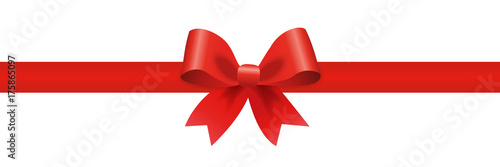 Gift decoration red ribbon - stock vector © dlyastokiv