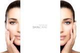 Skincare concept with female face split in half - 175867604