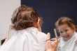 Little boy in hair salon