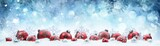 Christmas - Decorated Red Balls And Snowflakes On Snow - 175869449