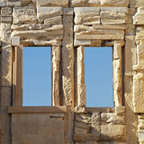 Athens Greece acropolis , windows on ancient wall - 175870608