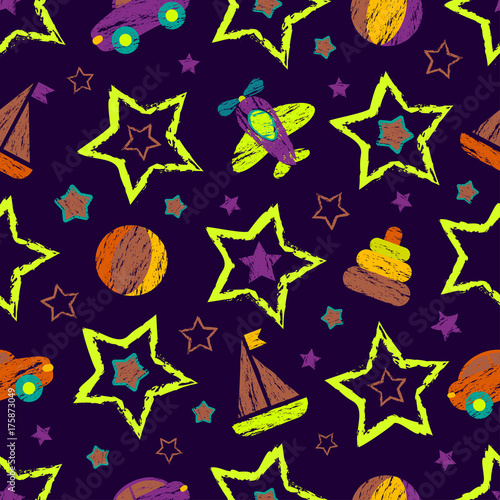 wzor-tapety,-gwiazdy,-samochody,-statki