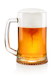 Glass of beer on white - 175873609