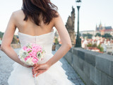 attractive asian woman wedding image in europe - 175879833