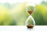 Sand clock, business time management concept - 175886649