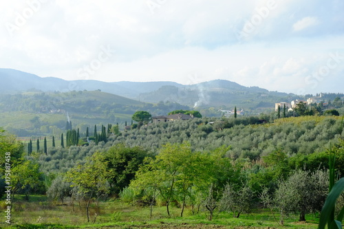 In de dag Toscane Tuscany View