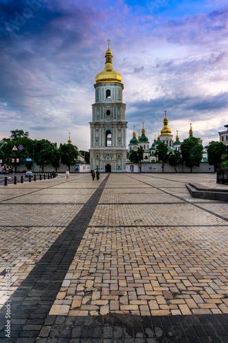 Fotobehang Kiev Saint Sophia National Sanctuary on St. Sophia Square