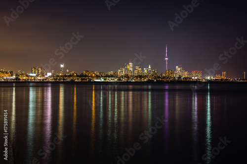 Toronto Night City Skyline Poster