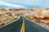 amazing desert road at valley of fire, nevada - 175894463