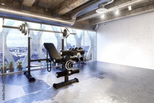Fotobehang Fitness Weight Room (design)