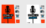Stand Up Comedy (Flat Style Vector Illustration Performance Show Poster Design) with Where, When And Ticket Details - 175898072