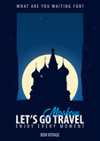 Russia. Time to Travel. Journey, trip, vacation. Moon background. Bon Voyage. - 175898696