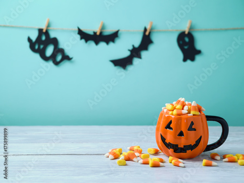Halloween celebration concept with candy corn Poster