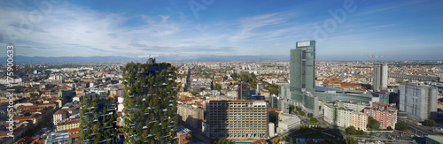 In de dag Milan Milano vista aerea