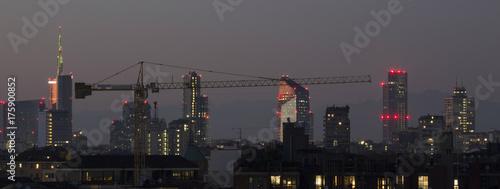 Fototapeta Milano by night skyline