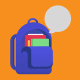 School bag vector illustration