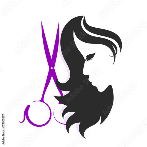 Scissors and silhouettes of a girl