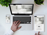 office tabletop cool responsive design hotel website