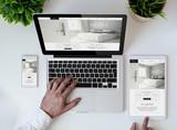 office tabletop cool responsive design hotel website - 175907423