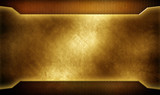 golden metal template with mesh background