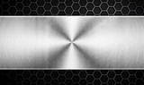 metal template with honeycomb design background