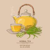 lemongrass tea illustration - 175909602